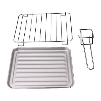 3pcs Silver Aluminum alloy Bakeware Stainless steel Grill with Clamp