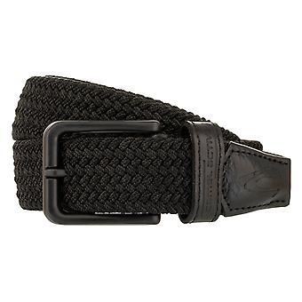 cinturão ativo de camelo têxtil/estiramento/couro preto 3103