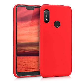 HATOLY Xiaomi Redmi Note 9S Ultraslim Silicone Case TPU Case Cover Red