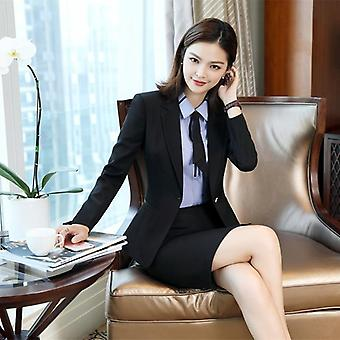Women Skirt Suits, Office Uniforms, Female Blazer Set, Business Lady Work