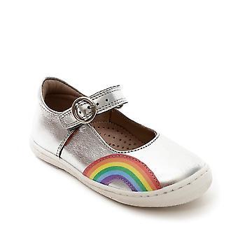 PETASIL Silver Mary Jane With Rainbow