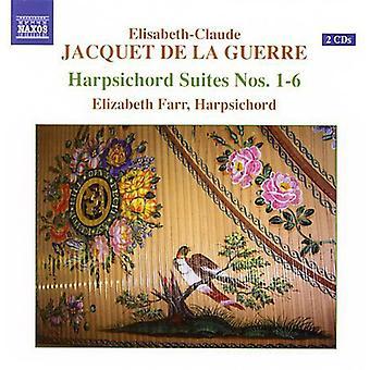 E.C Guerre - Elisabeth-Claude Jacquet De La Guerre: Harpsichord Suites Nos. 1-6 [CD] USA import