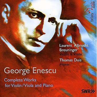 G. Enescu - Enescu: Complete Works for Violin/Viola and Piano [CD] USA import