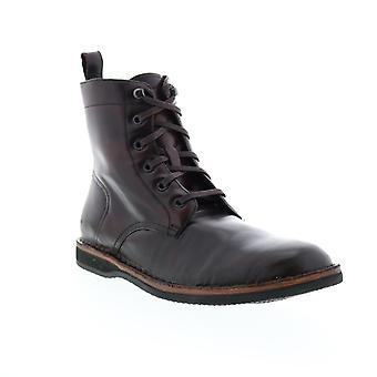 Andrew Marc Winchester  Mens Brown Leather Casual Dress Boots