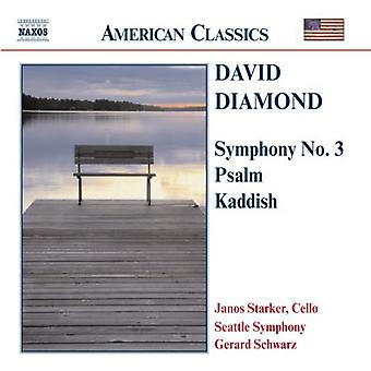 D. Diamond - David Diamond: Symphony No. 3; Psalm, Kaddish [CD] USA import