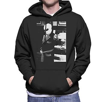 The Invisible Man Pointing Off Screen Men's Hooded Sweatshirt