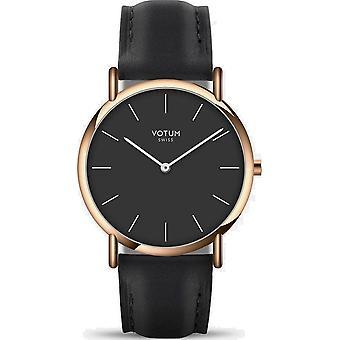 VOTUM - Reloj de señora - SLICE SMALL - PURE - V05.20.20.01 - correa de cuero - negro