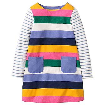 Long Sleeve Princess Tunic Jersey Dress, Block Stripe Design