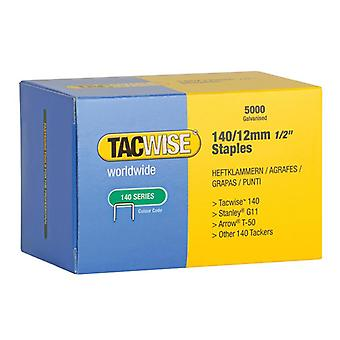 Tacwise 140 Galvanised Staples 12mm (Pack 5000) 0343