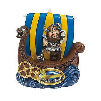 Magnet Matkamuisto Viikinkilaiva Viking juomatorvella