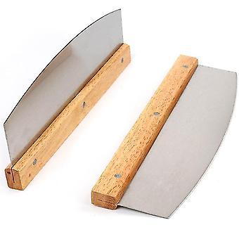 Pro pizza rezačka nehrdzavejúca oceľ s drevenou rukoväťou