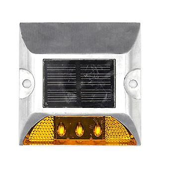 Aluminum Waterproof Led Solar Powered Road Stud Reflective Ground Warning Light