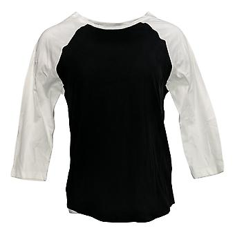 Rachel Hollis Ltd Women's Raglan Sleeve Baseball T-Shirt Black A374138