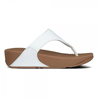 FitFlop Lulu Ladies Leather Toe Post Sandals White