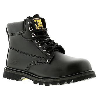 New Mens/Gents Black Tradesafe Steel Toe Cap Safety Boots. UK Size