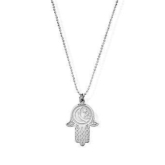 Cadena de corte de diamantes ChloBo con colgante de manos Moon & Star Hamsa SCDC1655
