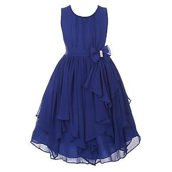 Dievčatá Princezná Kvetinová párty Formálne šaty Tmavo modrá 5-6 rokov
