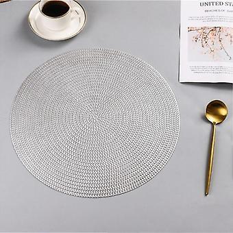 Pyöreä Pvc Placemat, Keittiön ruokapöytä, Mats-pihvityynyt kodin sisustukseen