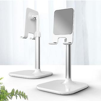 Scandinavian style mirrored alloy adjustable desk mobile phone holder and stand