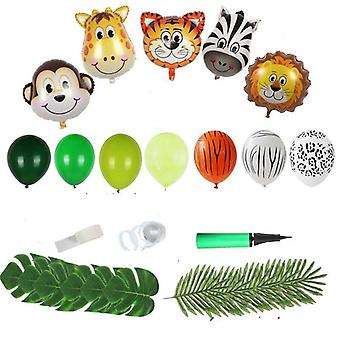 Cartoon Jungle Animal Disposable Party Tableware Set