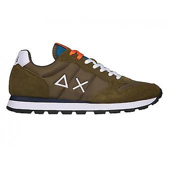 Running Sun68 Tom Solid Suede/ Nylon Military Green Sneaker Us21su11 Z31101