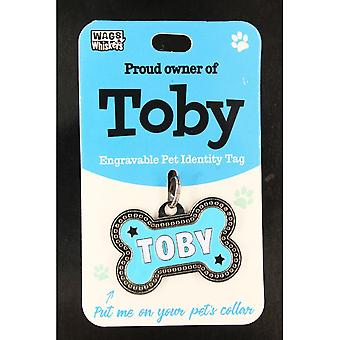 Wags & Whiskers Pet Identity Tag - Toby