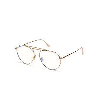 Tom Ford TF5730-B 028 Kiiltävä Ruusu Kulta Lasit