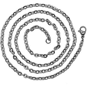 tumundo 1 Halskette Gliederkette 55cm Silbern EdelstaHaiFeiette Damen Herren Kette Charme Ankerkette