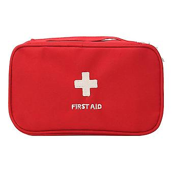 Portable first aid empty kit pouch tote small responder storage bags compact emergency survival medicine bag