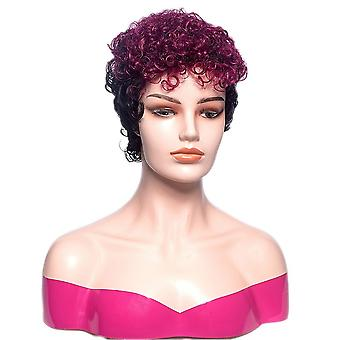 Ladies short curly chemical fiber wig headgear