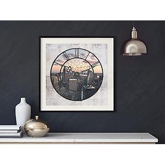 Pôster - Relógio da Cidade (Quadrado)-30x30