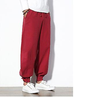 Summer Pants Linen Wide New Men's Linen Bloomers Trousers Cotton And Linen