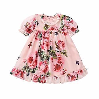 Summer Infant Kids Dresses For Baby, Short Sleeve Chiffon Dress