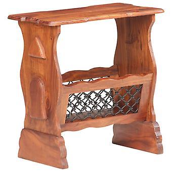 vidaXL newspaper stand 50x30x53 cm Acacia solid wood