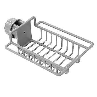 Verstellbarer Korb für Dusche und Küche - Grau