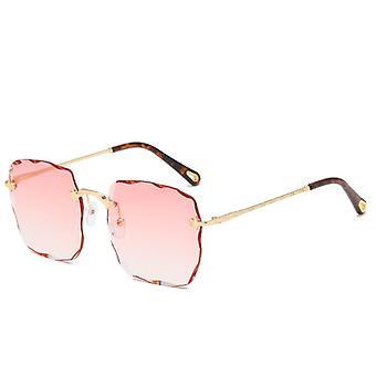Gafas de sol polarizadas cuadradas para hombres y mujeres polígono lente reflejada y1713