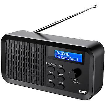 FengChun Digitales Radio, Tragbares DAB+/DAB/FM-Radio Wiederaufladbar Stereo Digitalradio Küchenradio