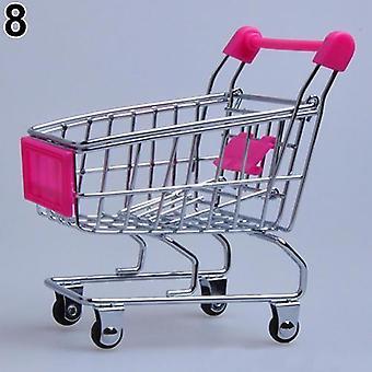 סופרמרקט עגלת יד, מיני עגלת קניות, שולחן עבודה קישוט אחסון