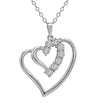 McPearl - Pendant with diamond and heart-shaped chain in Germany, of high quality.