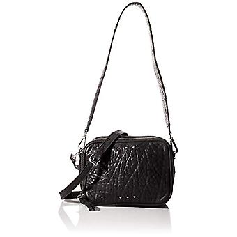 PIECES Pcninja Leather Cross Body - Women's Crossbody Bags, Black, 7x13x17.5 cm (B x H T)