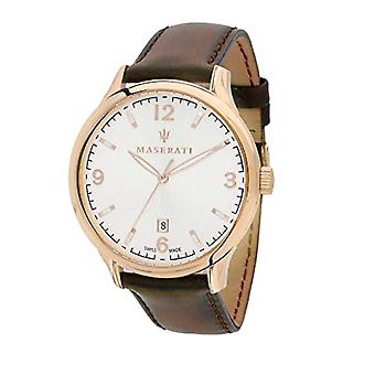 Men's watch, ATTRACTION Collection, steel, leather - R8851126002