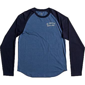 DC Clear versie lange mouw T-shirt in gewassen Indigo Heathe