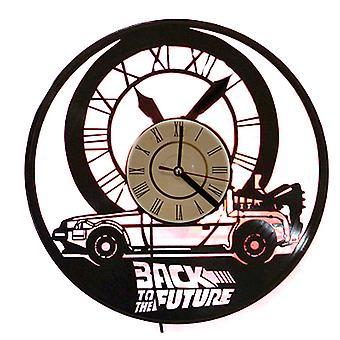Back to the Future vinyl record wall clock