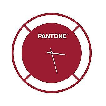 PANTONE Montre Drive Couleur Bordeaux, Blanc, en Métal L40xP0,15xA40 cm