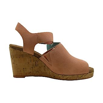Toms Womens Tropez Läder Öppen Tå Casual Plattform Sandaler