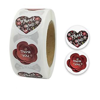 500 adesivi adesivi - Motivi di ringraziamento - Cartone animato