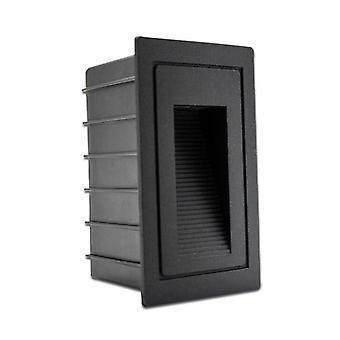 Gerui 3W 5W Led Aluminum Embedded Staircase Lamp(Black)