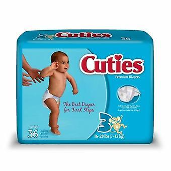 Ensimmäinen laatu Unisex Vauvan vaippa, Koko 3, 36 Määrä