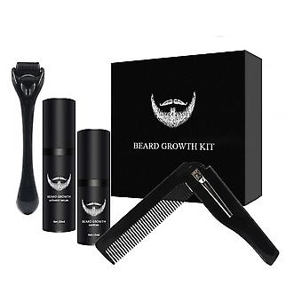 Hommes Barbe Croissance Kit Hair Growth Enhancer Huile plus épaisse