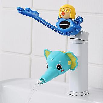 Cartoon Water Tap Extender Lavage des mains pour bébé Robinet Extension Tuyau d'eau anti-éclaboussures (#04)